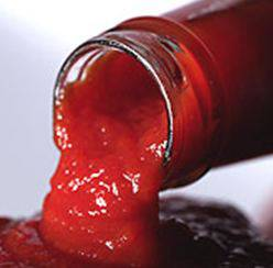 Tomato sauce out of the bottle