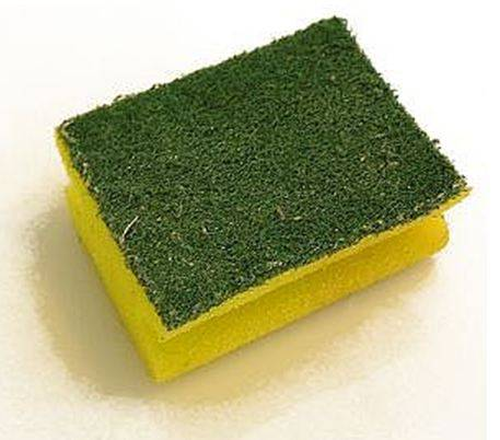 Washing kitchen sponges