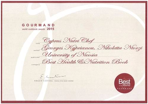 Gourmand 1st Certificate to NutriChef!!