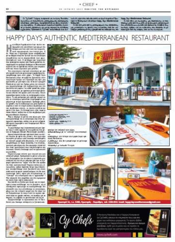 Happy Days Authentic Mediterranean Restaurant