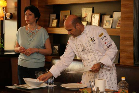 Antonis was invited as a distinguished chef in Novgorod