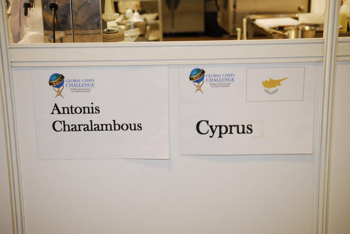 The southerner europe via Antonis Charalambous in the 4th place worldwild in global chef