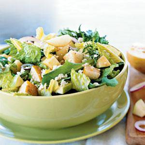 Potato, Parmesan and greens salad