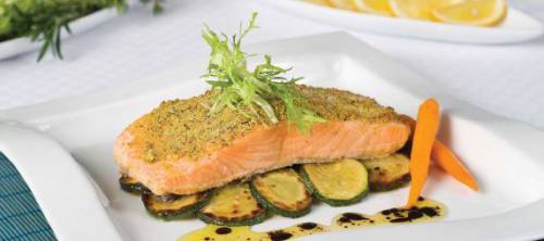 Pistachio Nut Crusted Salmon