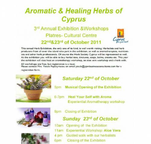 Aromatic & Healing Herbs of Cyprus - Exhibition