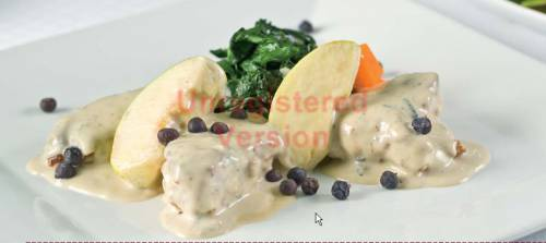 Pork Fillets with Cheese and Apple Sauce