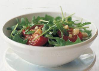 Warm rocket salad